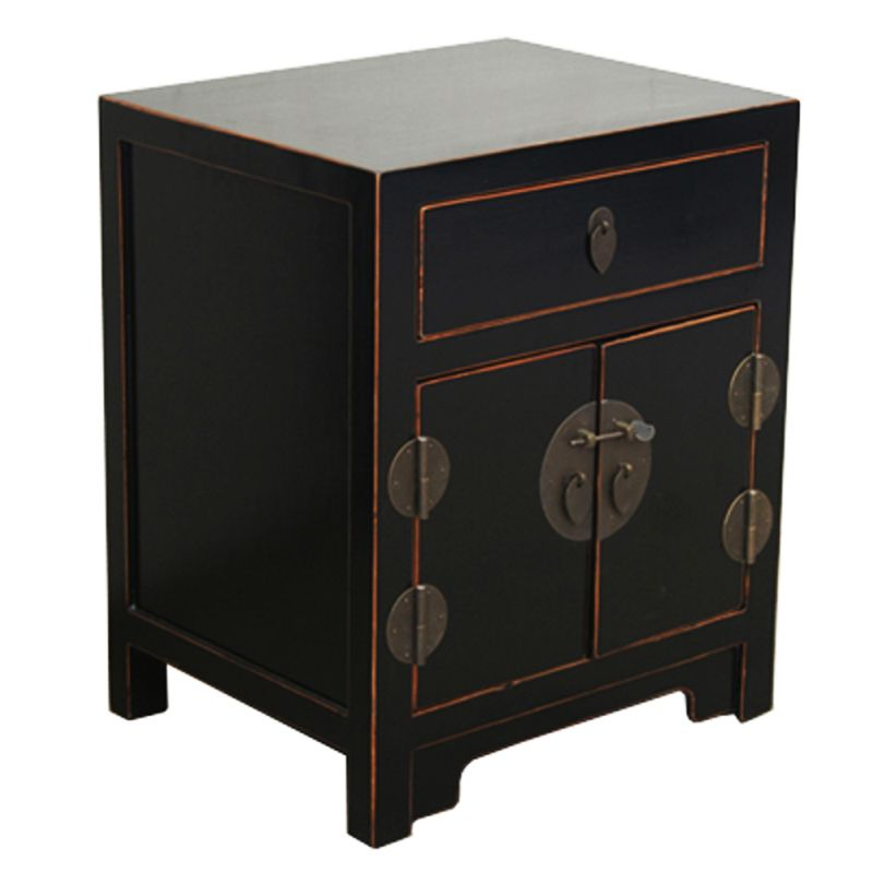 chevet chinois noir meubles. Black Bedroom Furniture Sets. Home Design Ideas