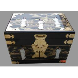 Jewelry box chinese black lacquer