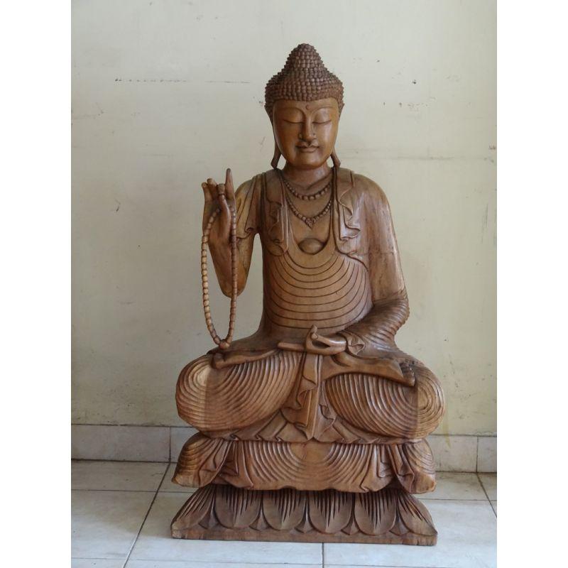 statue bouddha bois de l 39 enseignement meubles. Black Bedroom Furniture Sets. Home Design Ideas