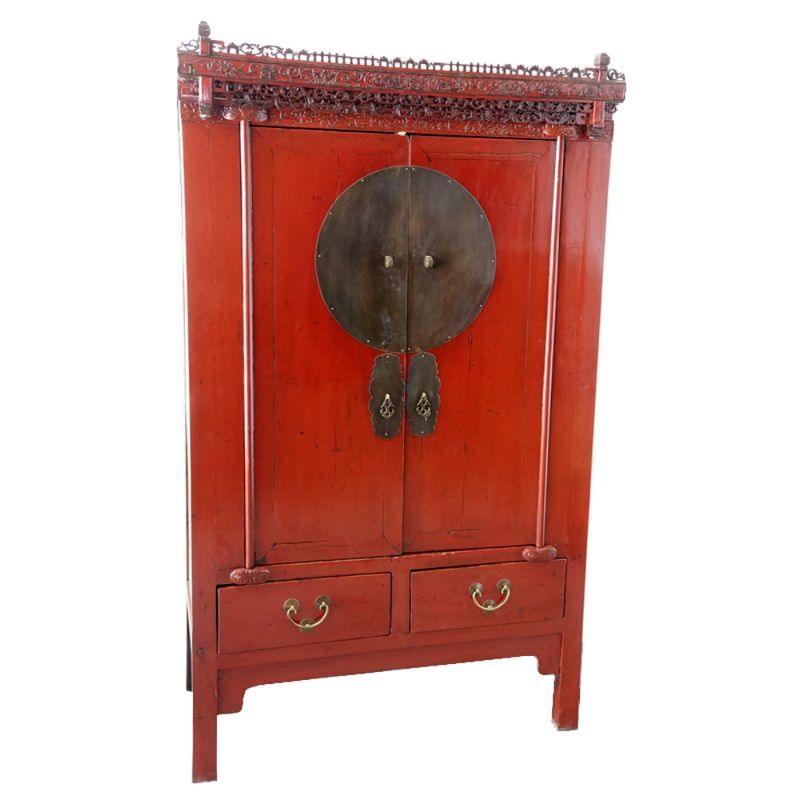 armoire chinoise rouge meubles. Black Bedroom Furniture Sets. Home Design Ideas
