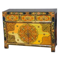 Buffet tibetan 3 drawers 2 doors