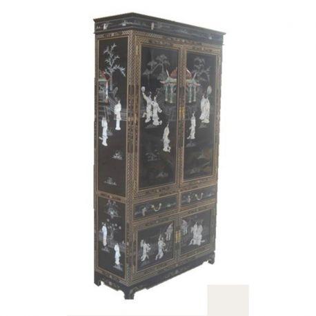 Wardrobe vaissellier inlaid black