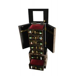 Furniture to jewelry black lacquer inlaid