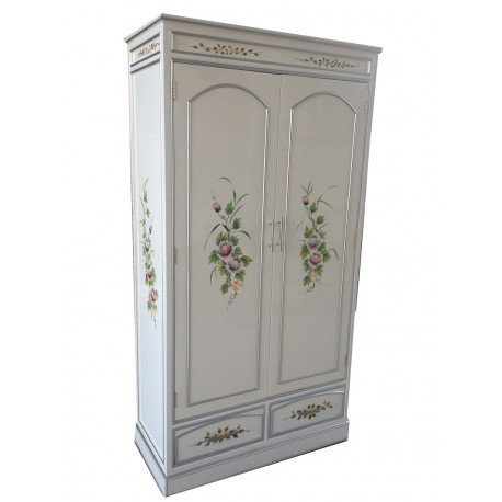 Armoirette white finish with 2 drawers and 2 doors