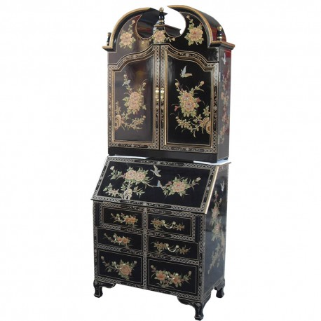 Secretary chinese lacquered dressing table with a lacquered chinese