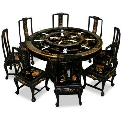 Table-lacquered chinese with turntable