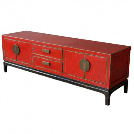 meuble tv chinois rouge et noir meubles. Black Bedroom Furniture Sets. Home Design Ideas
