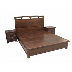 Chinese bed with 2 bedside tables