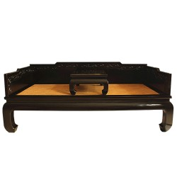Sofa bed chinese black with shelf
