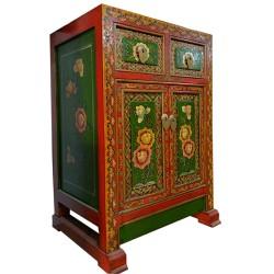 Meuble d'appoint tibétain vert