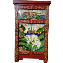 Furniture extra tibetan motif elephants and tigers