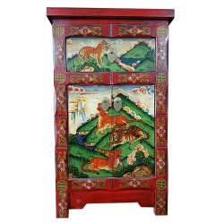 Furniture extra tibetan motif tigers and panthers