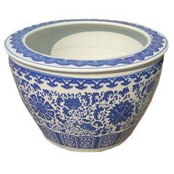 Cache pot chinois bleu ming