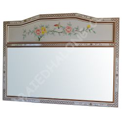 Miroir blanc laqué