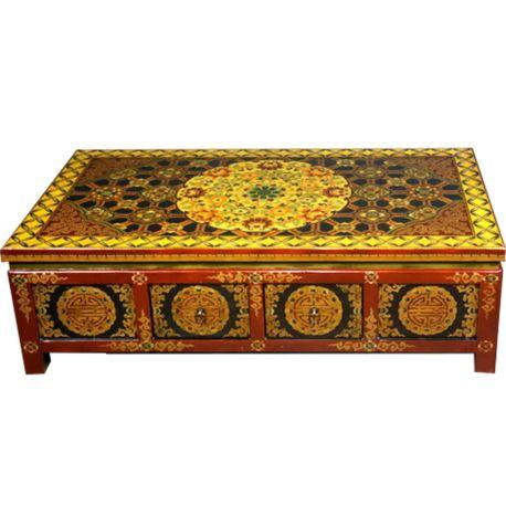 Attrayant Table Tibetan 8 Drawers