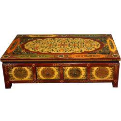 Table tibetan 8 drawers