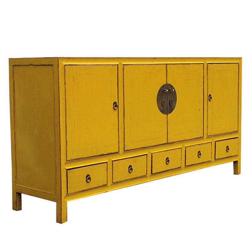buffet chinois jaune patin meubles. Black Bedroom Furniture Sets. Home Design Ideas