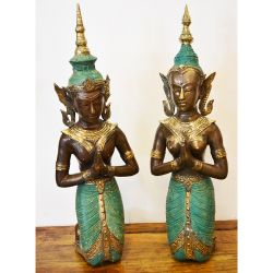 Statues danseuses thai en bronze