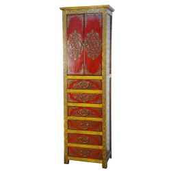 Convenient tibetan 6 drawers 2 doors