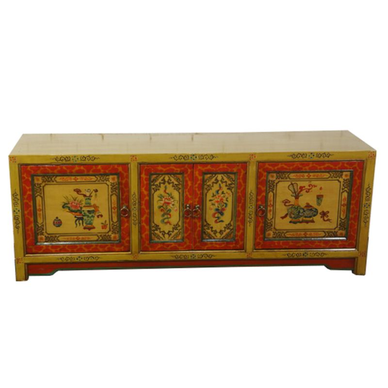 Meuble t l vision tib tain derge meubles for Meuble tibetain