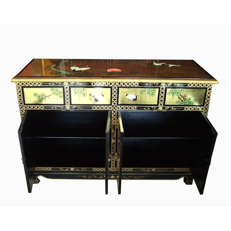 Buffet chinois peints la main meubles for Meuble buffet chinois