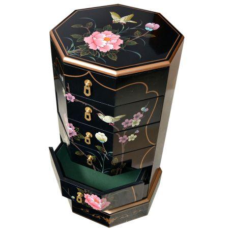 Column chinese octagonal 6 drawers