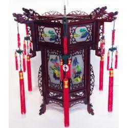 Lampe chinoise sculptée