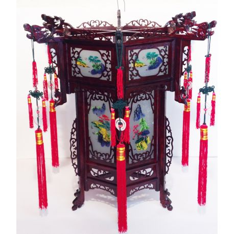 Lamp chinese carved