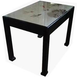 Table de salle à manger chinoise laquée 120x80x80