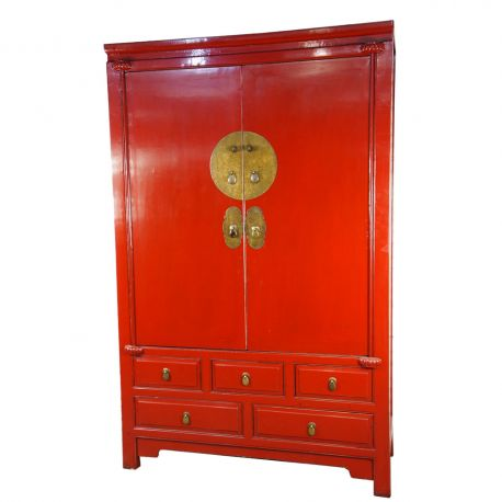 armoire de mariage chinoise rouge sang de boeuf meubles. Black Bedroom Furniture Sets. Home Design Ideas