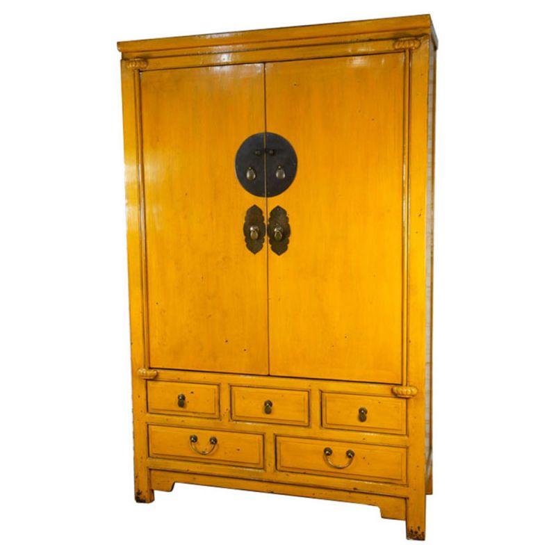 Armoire de mariage chinoise jaune meubles - Armoire mariage chinoise ...