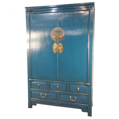 armoire de mariage chinoise bleue meubles. Black Bedroom Furniture Sets. Home Design Ideas