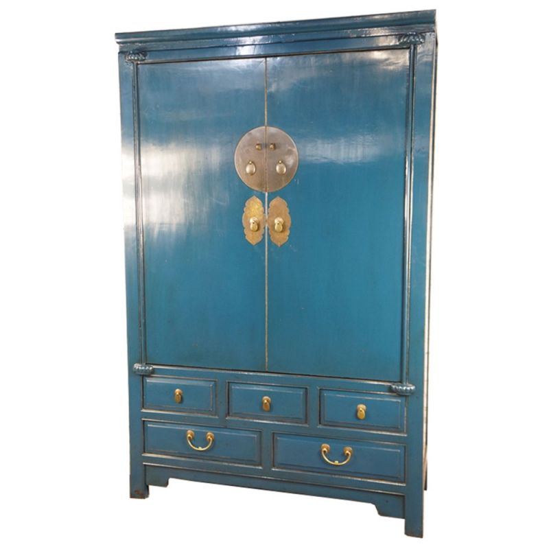 armoire de mariage chinoise bleue meubles. Black Bedroom Furniture Sets. Home Design Ideas
