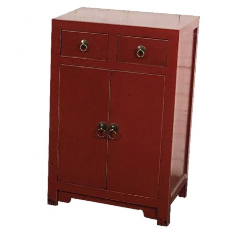 Meuble d 39 entr e chinois rouge meubles for Meuble chinois rouge
