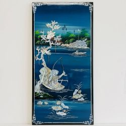 Lacquer vietnamese inlaid with mother-of-pearl