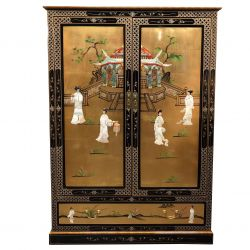 Furniture chinese tv lacquered sliding doors