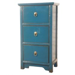 Commode chinoise bleue