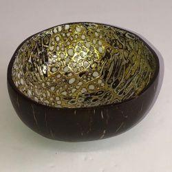 Bonbonnière noire laquée doré avec incrustations