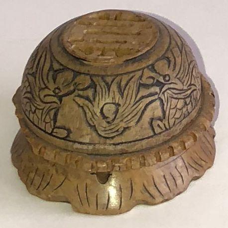 Burning incense dragon carved