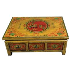 Table tibetan rectangular 6 drawers