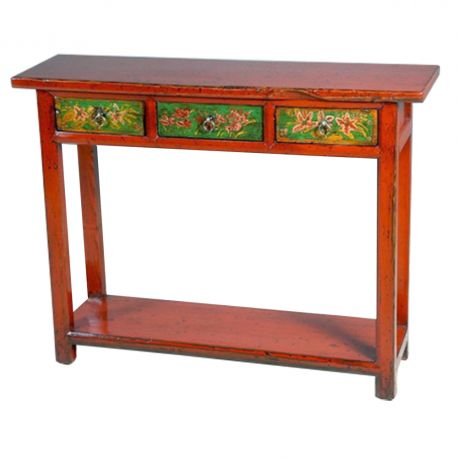 Console chinoise 1m10 rouge