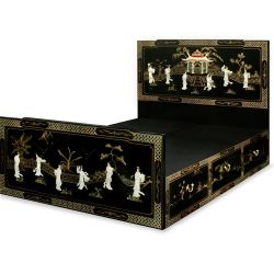 Lit chinois 6 tiroirs 152x210x130