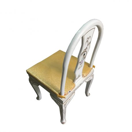 Chair chinese white rounded chair back