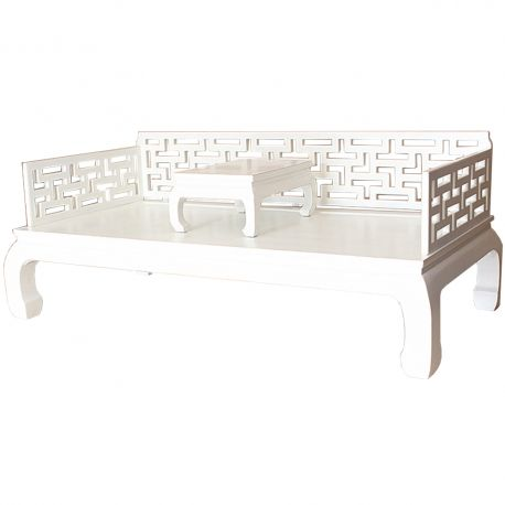 Sofa bed chinese brown with shelf