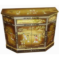 Buffet chinois motifs personnages