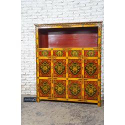 Buffet tibétain 140x40x166 cm