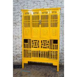 Armoire de cuisine chinoise jaune - Stock Guangzhou
