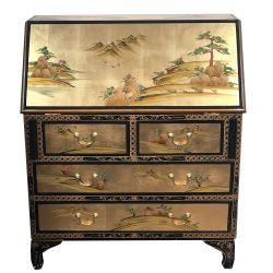 Secretary scriban chinese lacquered