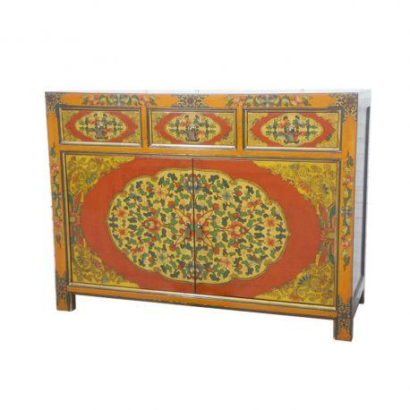 Buffet tibetan 3 drawers 2 doors