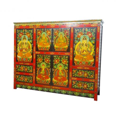 Buffet tibetan 2 doors 5 drawers